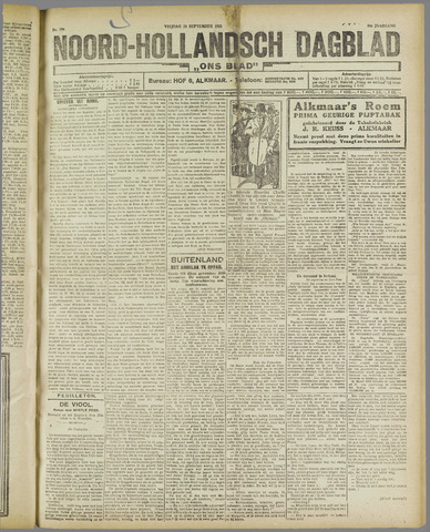 Ons Blad : katholiek nieuwsblad voor N-H 1921-09-23