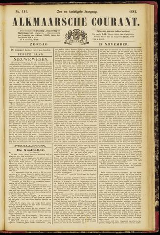 Alkmaarsche Courant 1884-11-23