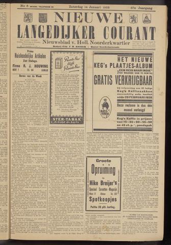 Nieuwe Langedijker Courant 1928-01-14