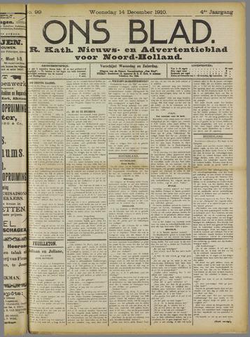 Ons Blad : katholiek nieuwsblad voor N-H 1910-12-14