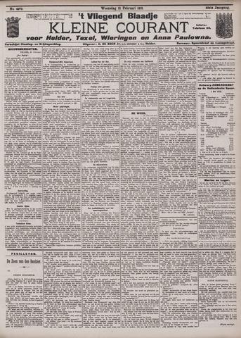 Vliegend blaadje : nieuws- en advertentiebode voor Den Helder 1912-02-21