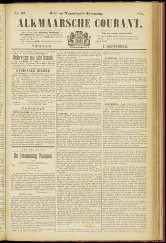 Alkmaarsche Courant 1896-09-11