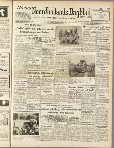 Nieuw Noordhollandsch Dagblad : voor Alkmaar en omgeving 1949-09-01