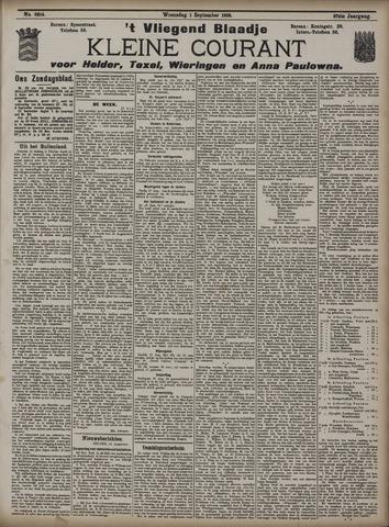 Vliegend blaadje : nieuws- en advertentiebode voor Den Helder 1909-09-01