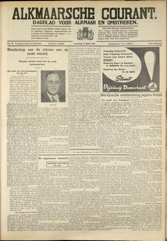 Alkmaarsche Courant 1939-04-15