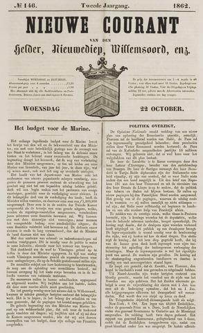 Nieuwe Courant van Den Helder 1862-10-22