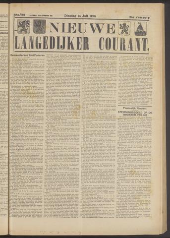 Nieuwe Langedijker Courant 1925-07-14
