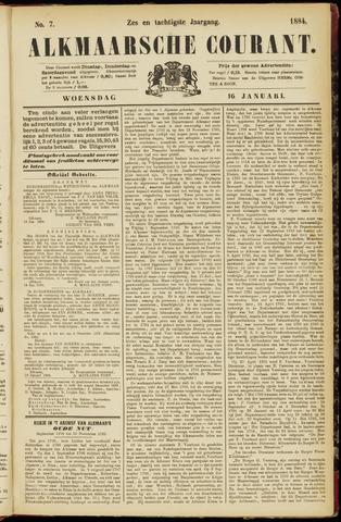 Alkmaarsche Courant 1884-01-16