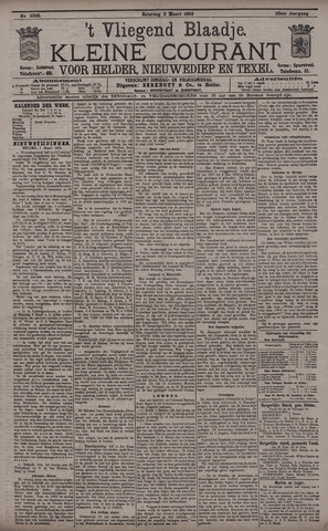 Vliegend blaadje : nieuws- en advertentiebode voor Den Helder 1895-03-02