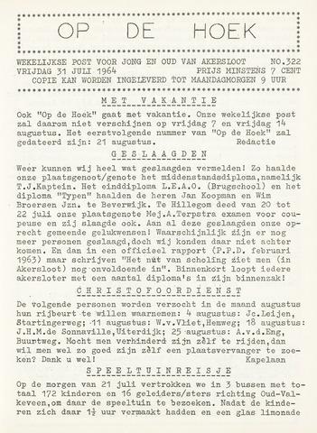 Op De Hoek, weekblad voor Akersloot 1964-07-31