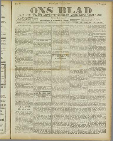 Ons Blad : katholiek nieuwsblad voor N-H 1920-02-10