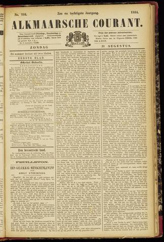 Alkmaarsche Courant 1884-08-31