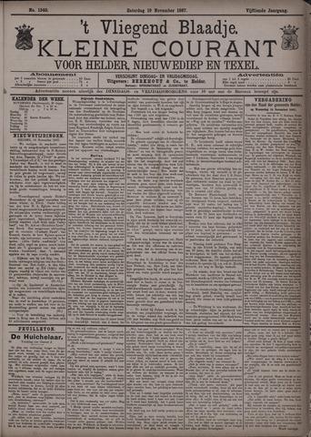 Vliegend blaadje : nieuws- en advertentiebode voor Den Helder 1887-11-19