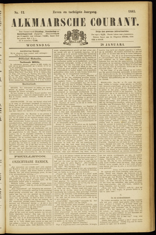 Alkmaarsche Courant 1885-01-28