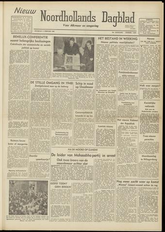 Nieuw Noordhollandsch Dagblad : voor Alkmaar en omgeving 1948-02-02
