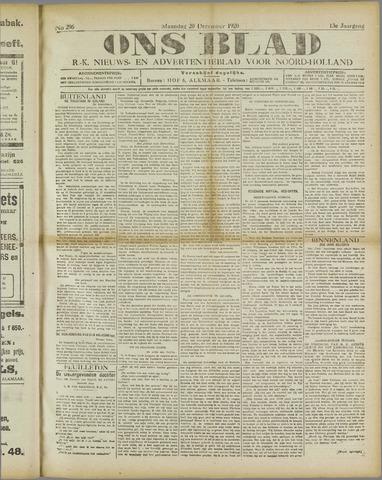 Ons Blad : katholiek nieuwsblad voor N-H 1920-12-20