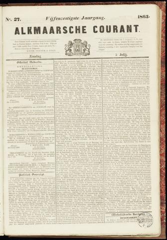 Alkmaarsche Courant 1863-07-05