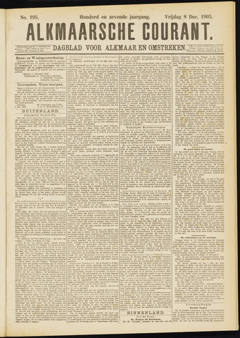 Alkmaarsche Courant 1905-12-08