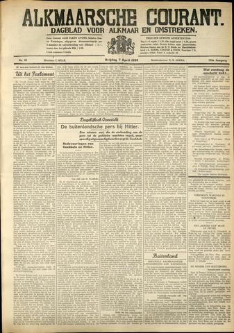 Alkmaarsche Courant 1933-04-07