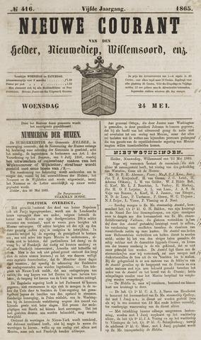 Nieuwe Courant van Den Helder 1865-05-24