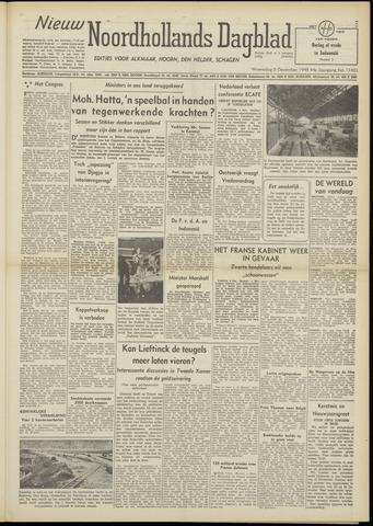 Nieuw Noordhollandsch Dagblad : voor Alkmaar en omgeving 1948-12-08