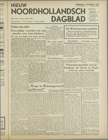 Nieuw Noordhollandsch Dagblad : voor Alkmaar en omgeving 1945-08-06