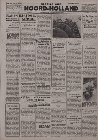 Dagblad Noord-Holland, Schager editie 1942-07-06