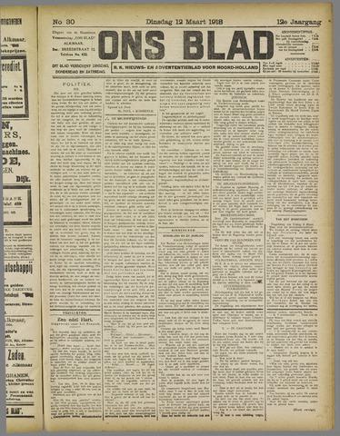 Ons Blad : katholiek nieuwsblad voor N-H 1918-03-12