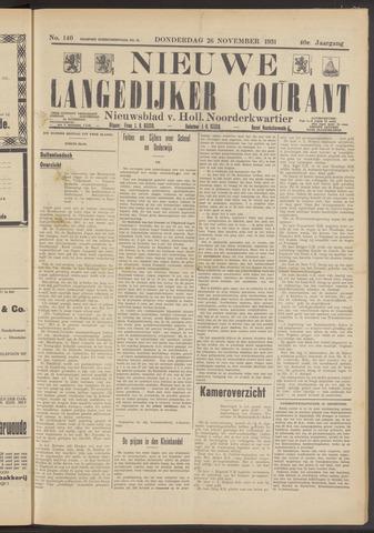 Nieuwe Langedijker Courant 1931-11-26