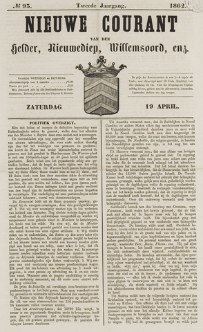 Nieuwe Courant van Den Helder 1862-04-19