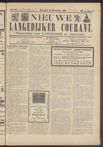 Nieuwe Langedijker Courant 1924-11-29
