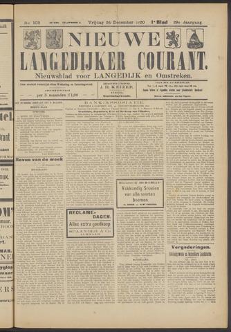 Nieuwe Langedijker Courant 1920-12-24