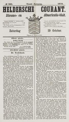 Heldersche Courant 1870-10-29