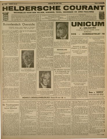 Heldersche Courant 1934-06-26