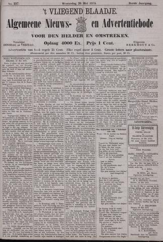 Vliegend blaadje : nieuws- en advertentiebode voor Den Helder 1875-05-26