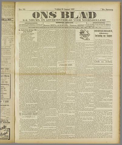 Ons Blad : katholiek nieuwsblad voor N-H 1921-01-22