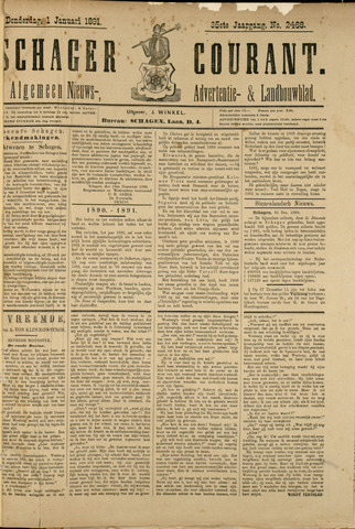 Schager Courant 1891