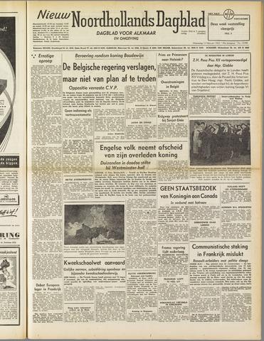 Nieuw Noordhollandsch Dagblad : voor Alkmaar en omgeving 1952-02-13