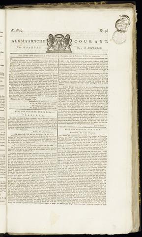 Alkmaarsche Courant 1839-11-18