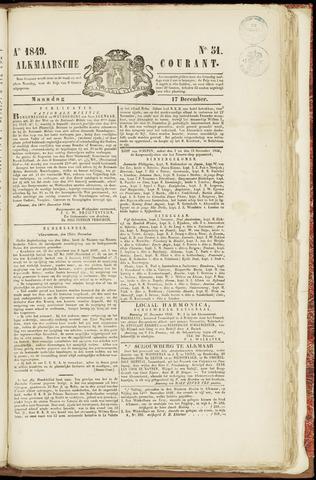 Alkmaarsche Courant 1849-12-17