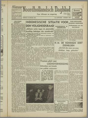 Nieuw Noordhollandsch Dagblad : voor Alkmaar en omgeving 1946-01-22