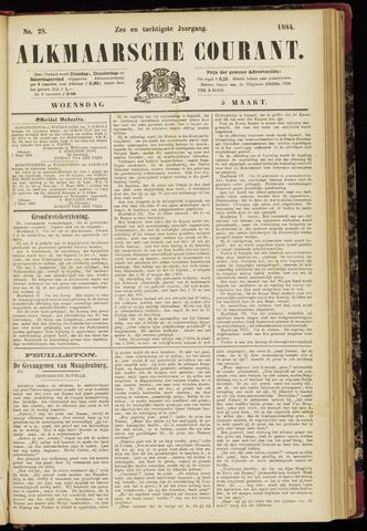 Alkmaarsche Courant 1884-03-05