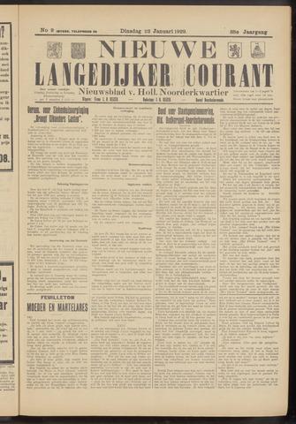 Nieuwe Langedijker Courant 1929-01-22