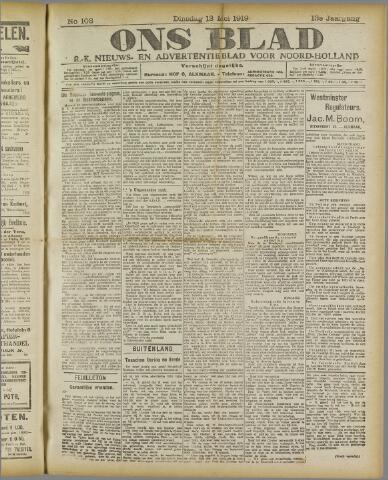 Ons Blad : katholiek nieuwsblad voor N-H 1919-05-13