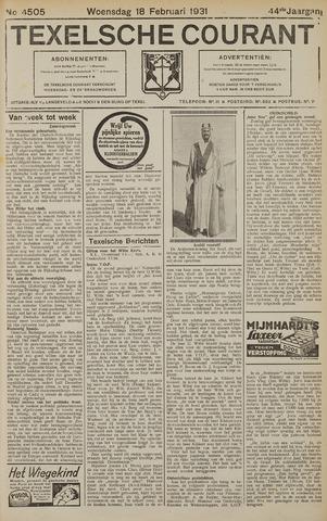 Texelsche Courant 1931-02-18