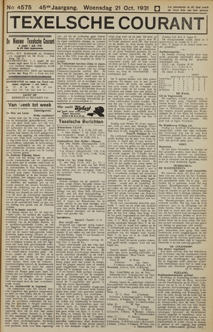 Texelsche Courant 1931-10-21