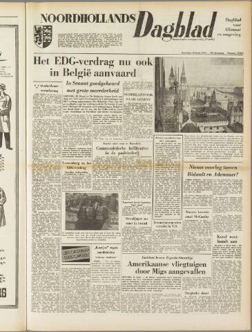 Noordhollands Dagblad : dagblad voor Alkmaar en omgeving 1954-03-13