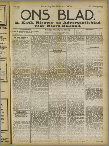 Ons Blad : katholiek nieuwsblad voor N-H 1909-02-20