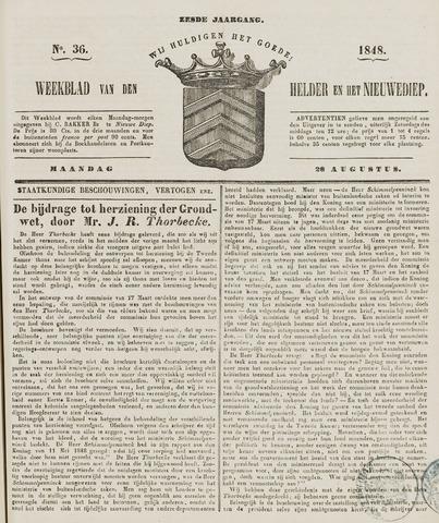 Weekblad van Den Helder en het Nieuwediep 1848-08-28