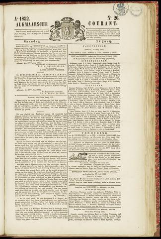 Alkmaarsche Courant 1852-06-28